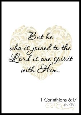 1 Corinthians 6_17 Poster
