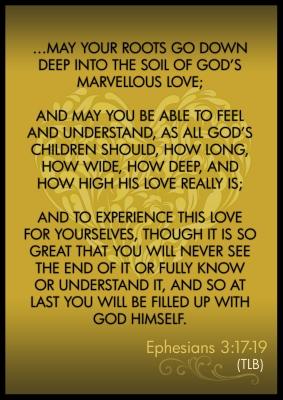 Ephesians 3_17 to 19 Poster