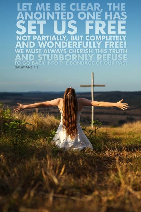 Galatians 5-1 Poster. Set Us Free