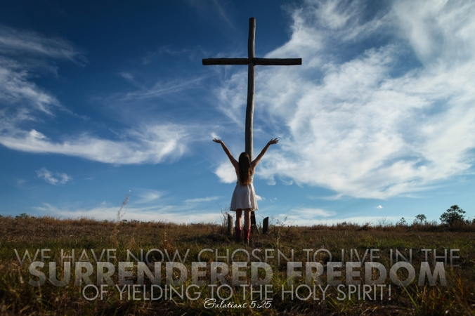 Galatians 5-25 Poster. Surrendered Freedom